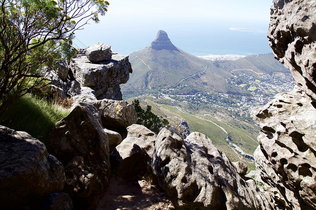 Table Mountain hiking route India Venster