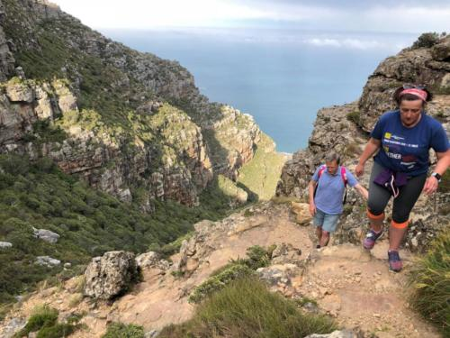 hiking up the 12 Apostles to Table Mountain