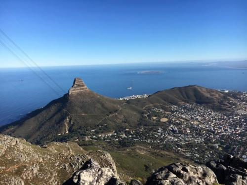 Beautiful views from Table Mountain