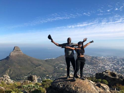 Happy hikers on Table Mountain