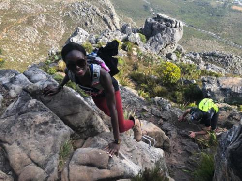 India Venster scrambles on Table Mountain