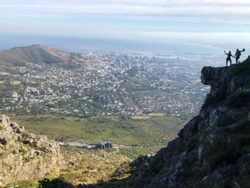 Photo locations on Table Mountain