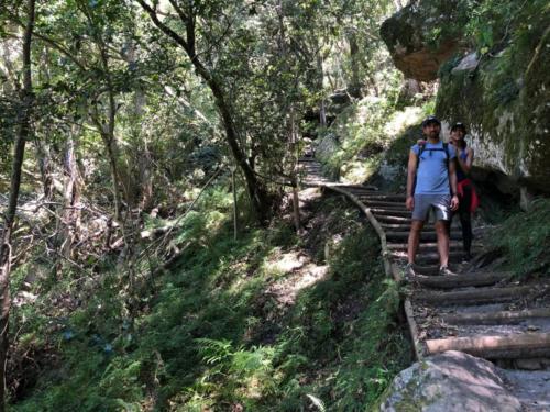 Skeleton Gorge hiking route from Kistenbosch Gardens to Table Mountain