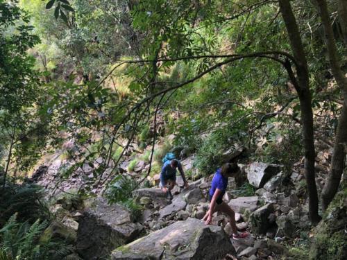 Climbng Skeleton Gorge to Table Mountain