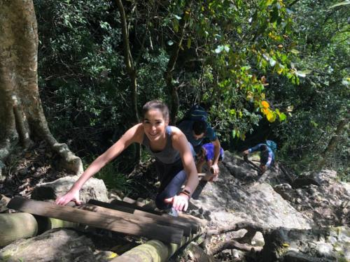 Hie Addicts team hiking Skeleton Gorge