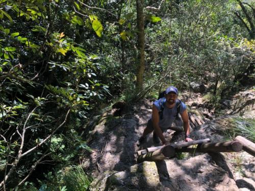 Ladder section on Skeleton Gorge Table Mountain